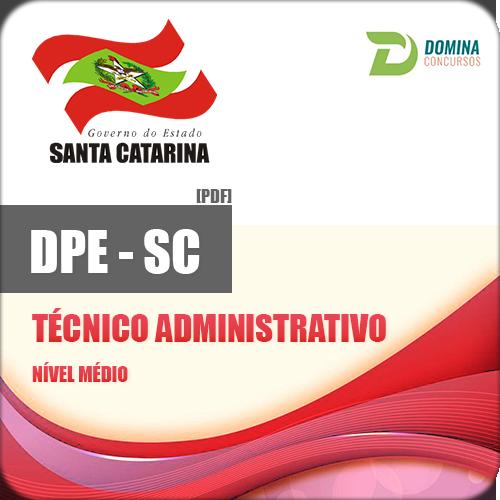 Apostila Concurso DPE SC 2017 Técnico Administrativo