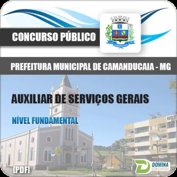 Apostila Pref Camanducaia MG 2018 Auxiliar de Serviços Gerais