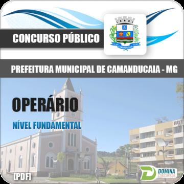 Apostila Pref Camanducaia MG 2018 Operário