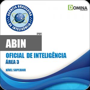 Apostila Concurso ABIN 2018 Oficial de Inteligência Área 3