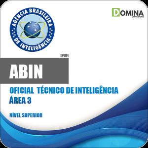 Apostila ABIN 2018 Oficial Técnico de Inteligência Área 3