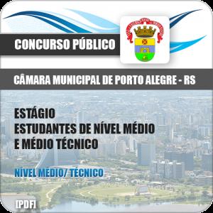 Apostila Câmara Porto Alegre 2018 Estágio Nível Médio e Técnico