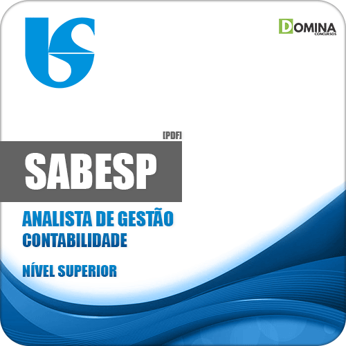 Apostila SABESP 2018 Analista de Gestão Contabilidade