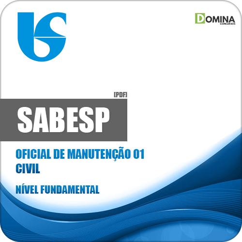 Apostila SABESP 2018 Oficial de Manutenção 01 Civil