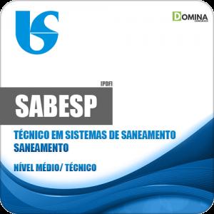 Apostila SABESP 2018 Técnico em Sistemas de Saneamento Área Saneamento
