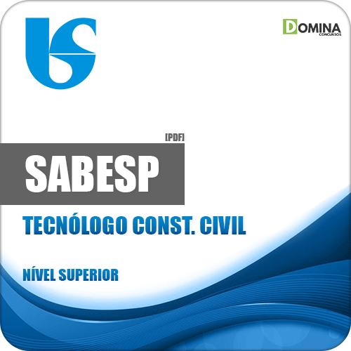 Apostila SABESP 2018 Tecnólogo Construção Civil