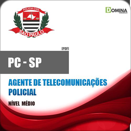 Livro Concurso PC SP 2018 Agente de Telecomunicações