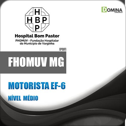 Apostila Concurso FHOMUV MG 2018 Motorista