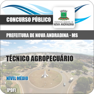 Apostila Nova Andradina MS 2018 Técnico Agropecuário
