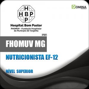 Apostila FHOMUV MG 2018 Nutricionista