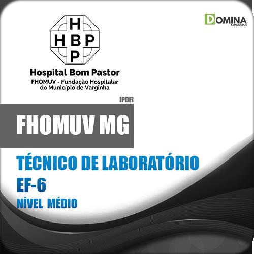 Apostila FHOMUV MG 2018 Técnico de Laboratório