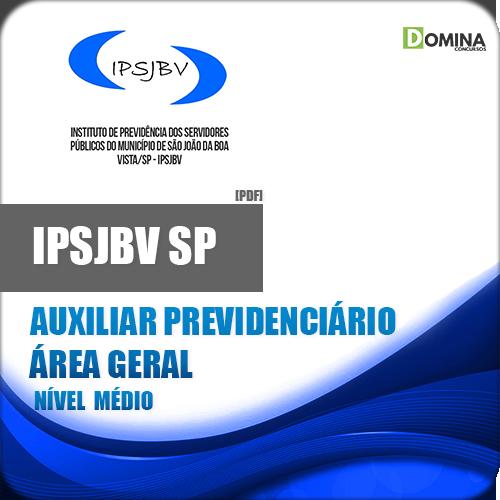 Apostila IPSJBV SP 2018 Auxiliar Previdenciário Geral
