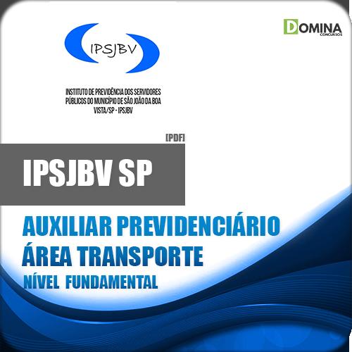 Apostila IPSJBV SP 2018 Auxiliar Previdenciário Transporte