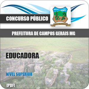 Apostila Concurso Campo Gerais MG 2018 Educadora
