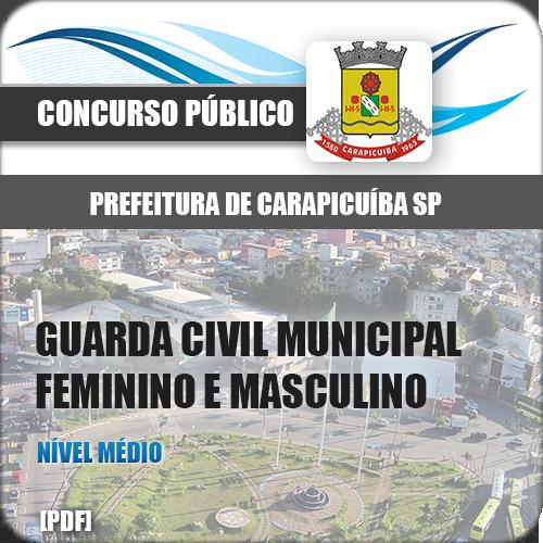 Apostila Carapicuíba SP 2018 Guarda Civil Municipal