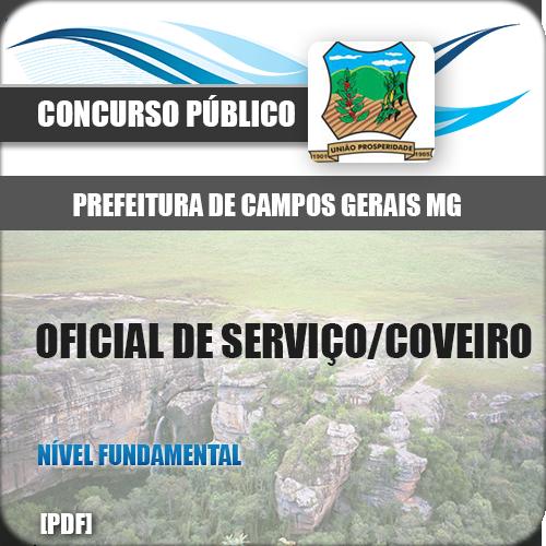 Apostila Campo Gerais MG Oficial Serviço Coveiro