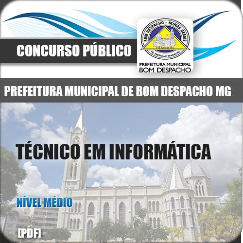 Apostila Bom Despacho MG 2018 Técnico Informática