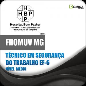 Apostila FHOMUV MG 2018 Técnico Segurança Trabalho