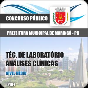 Apostila Pref Maringá PR 2018 Técnico Laboratório Analises Clínicas