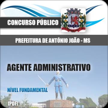 Apostila Antônio João MS 2018 Agente Administrativo