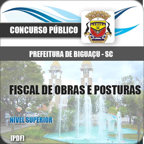 Apostila Biguaçu SC 2018 Fiscal de Obras e Posturas