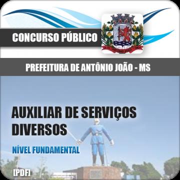 Apostila Antônio João MS 2018 Auxiliar Serviços Diversos