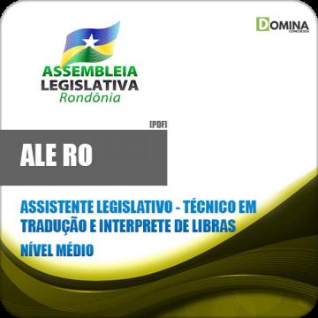 Apostila Ale RO 2018 Ass Legislativo Tec Interprete Libras