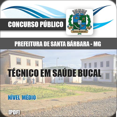 Apostila Santa Bárbara MG 2018 Técnico Saúde Bucal