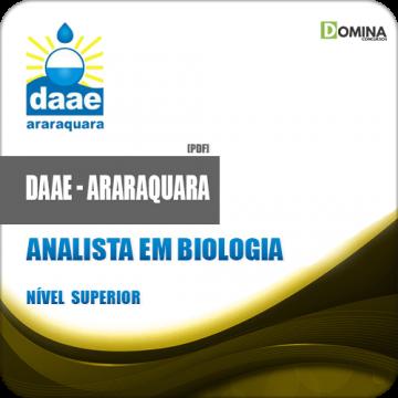 Apostila DAAE Araraquara SP 2018 Analista em Biologia