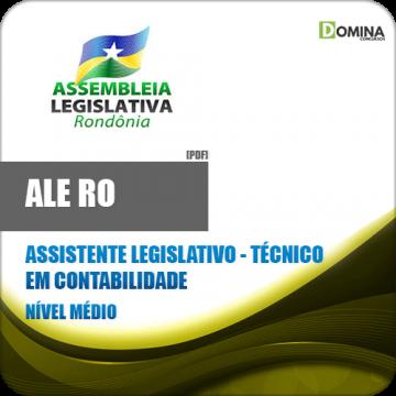 Apostila Ale RO 2018 Ass Legislativo Tec Contabilidade