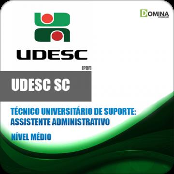 Apostila UDESC 2018 Tec Sup Assistente Administrativo