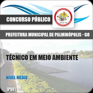 Apostila Palminópolis GO 2018 Técnico Meio Ambiente