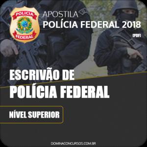 Apostila Polícia Federal PF 2018 Escrivão de Polícia Federal