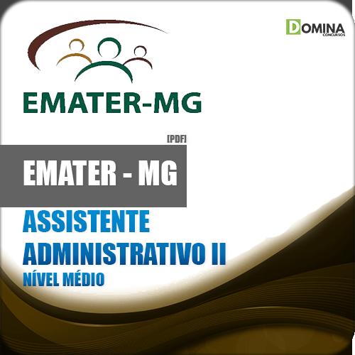 Apostila EMATER MG 2018 Assistente Administrativo II
