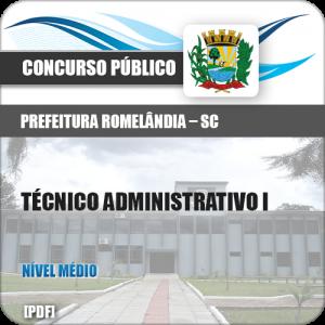 Apostila Romelândia SC 2018 Técnico Administrativo I