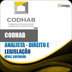 Apostila CODHAB DF 2018 Analista Direito e Legislação