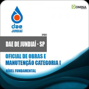 Apostila DAE Jundiaí SP 2018 Oficial Obras Manutenção Cat I