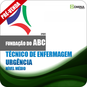 Apostila Fundação ABC SP 2018 Tec Enfermagem Urgência