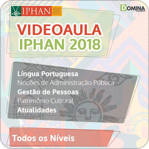 VideoAulas Questões Comentadas IPHAN 2018 + BRINDES
