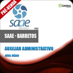Apostila SAAE Barretos SP 2018 Auxiliar Administrativo