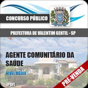 Apostila Pref Valentim Gentil SP 2018 Agt Comunitário Saúde