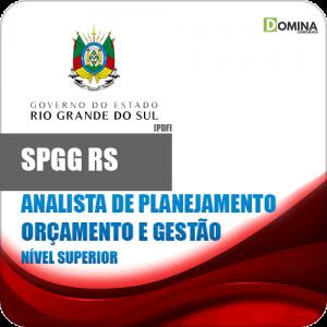 Apostila SPGG RS 2018 Analista de Planejamento Orçamento Gestão