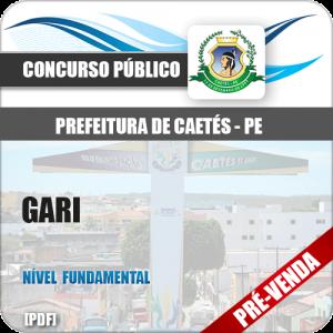 Apostila Pref Caetés PE 2018 Gari