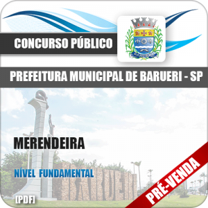 Apostila Prefeitura de Barueri SP 2018 Merendeira