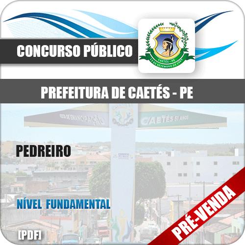 Apostila Pref Caetés PE 2018 Pedreiro