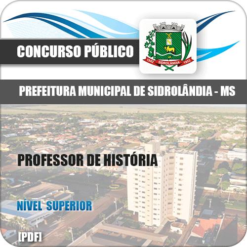 Pref Sidrolândia MS 2018 Professor de História