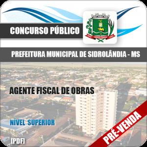 Apostila Pref Sidrolândia MS 2018 Agente Fiscal de Obras