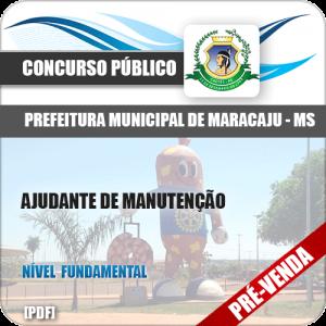 Apostila Pref Maracaju MS 2018 Ajudante de Manutenção
