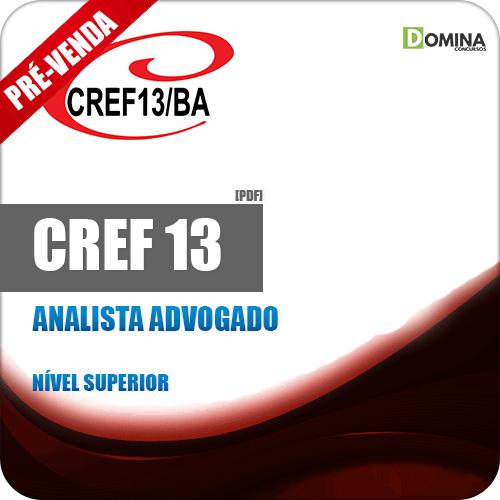 Apostila CREF 13 BA 2018 Analista Advogado