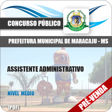 Apostila Pref Maracaju MS 2018 Assistente Administrativo